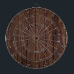 "Rustic Dark Brown Wood Wooden Fence Country Style Dartboard<br><div class=""desc"">Rustic Dark Brown Wood Wooden Fence Photography Country Style Gift</div>"