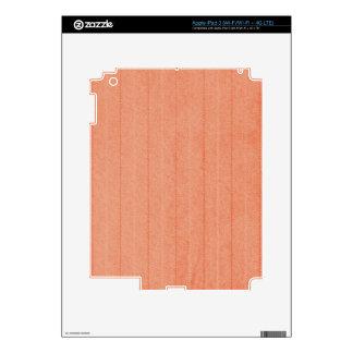 Rustic Dark Salmon Decals For iPad 3