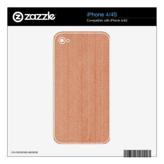Rustic Dark Salmon Skin For iPhone 4