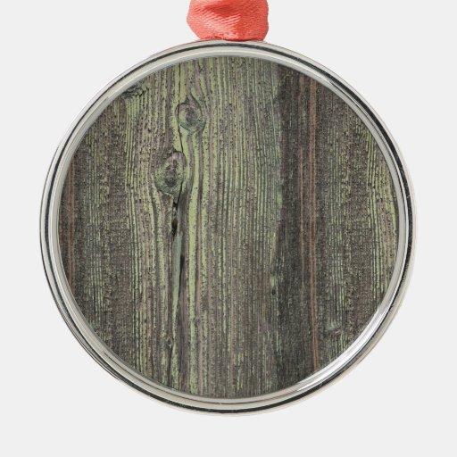 Rustic dark weathered wood background round metal