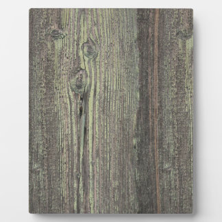 Rustic Dark Weathered Wood Background Photo Plaque