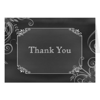 Rustic Decorative Chalk Board Wedding Thank You Greeting Cards