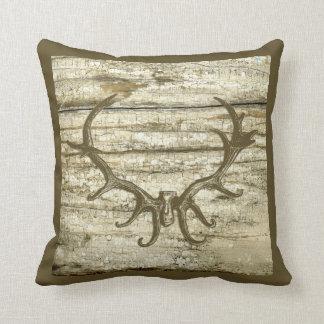 Rustic Deer Antler Hunting Theme Retro Art Stag Pillows