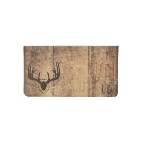Rustic Deer Antlers Hunting Checkbook Covers Checkbook Cover