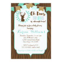 Rustic Deer Baby Shower Invitation, Deer Invite