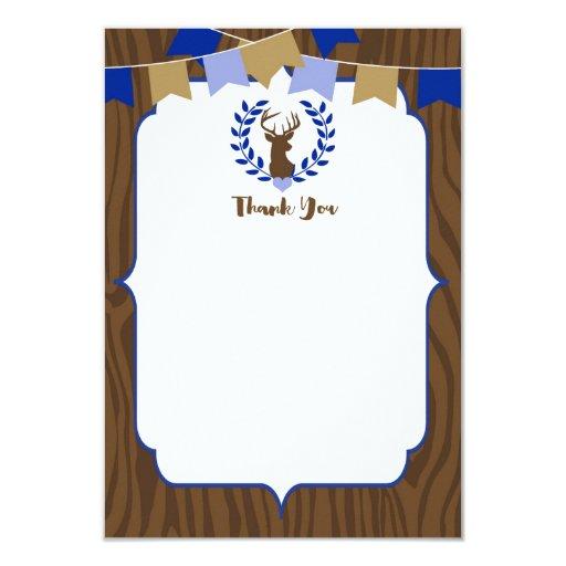 Rustic Deer Buck Baby Shower Thank You Card