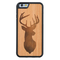 Rustic Deer Head Cell Phone Case at Zazzle
