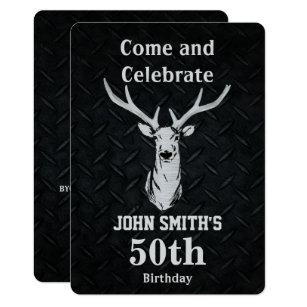 Deer hunting birthday invitations announcements zazzle rustic deer hunting mens birthday invitations filmwisefo