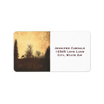 Rustic Deer in Trees Country Address Labels