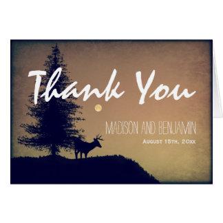 Rustic Deer Tree Wedding Thank You Cards