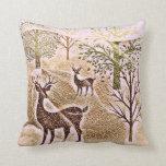 Rustic Deerscape Throw Pillow