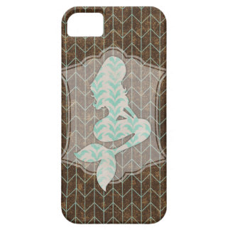 Rustic Design With Shabby Mermaid Silhouette iPhone SE/5/5s Case