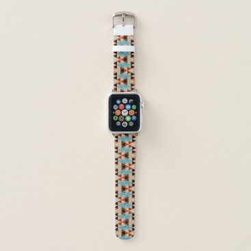 All_In_Cute_Fun Rustic Diamond Squares Triangles Wood Art Pattern Apple Watch Band
