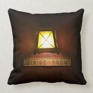 Rustic Dining Room Throw Pillow