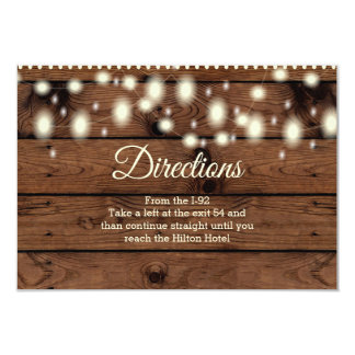 Rustic Directions Insert, Wedding Direction Insert Card