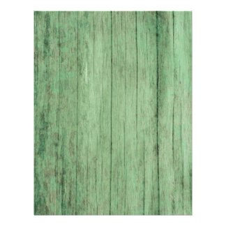 Rustic Distressed Green Wood Paper