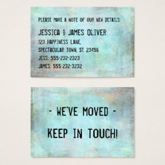 Rustic Distressed Grunge We've Moved Handout Card
