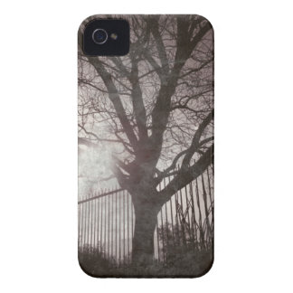 Rustic Distressed Tree Silhouette Grunge iPhone 4 Case-Mate Cases