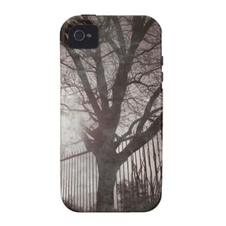 Rustic Distressed Tree Silhouette Grunge iPhone 4 Case