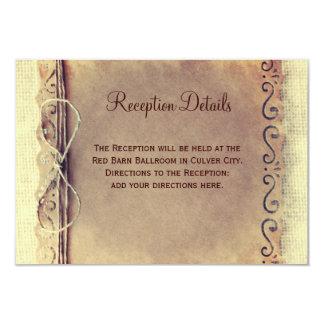 Rustic Distressed Vintage Wedding Reception Cards