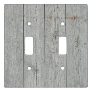 Rustic Distressed Wood Look Double Switch Plate