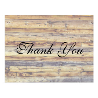 Rustic distressed  Wooden Floor | Thank You Card