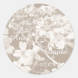 Rustic Dogwood Blossom Wedding Handfasting Lt. Sep Classic Round Sticker