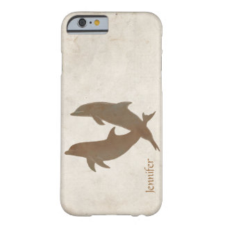 Rustic Dolphins Beach Wedding Barely There iPhone 6 Case