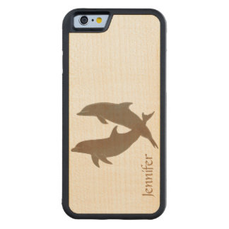 Rustic Dolphins Beach Wedding Carved® Maple iPhone 6 Bumper Case
