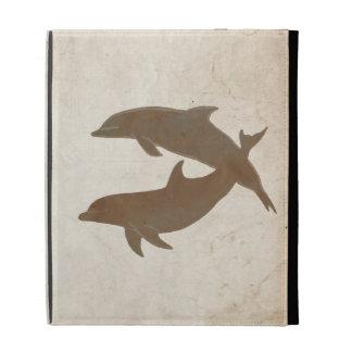 Rustic Dolphins Beach Wedding iPad Case