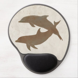 Rustic Dolphins Beach Wedding Gel Mouse Pad