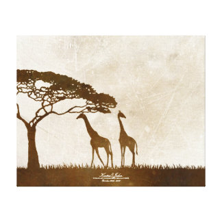 Rustic Dolphins Beach Wedding Guest Book Stretched Canvas Print