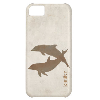 Rustic Dolphins Beach Wedding iPhone 5C Cover