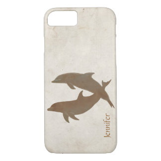 Rustic Dolphins Beach Wedding iPhone 7 Case