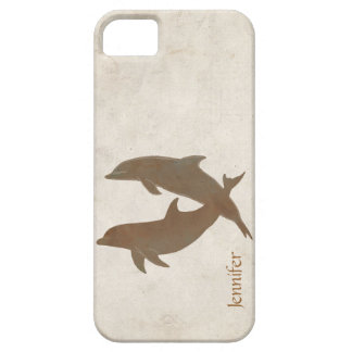 Rustic Dolphins Beach Wedding iPhone SE/5/5s Case