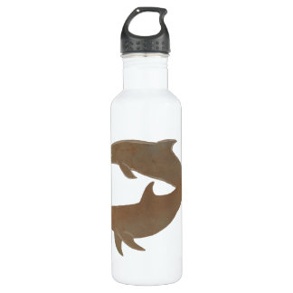 Rustic Dolphins Beach Wedding 24oz Water Bottle