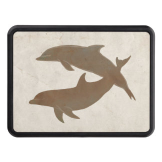 Rustic Dolphins Beach Wedding Hitch Cover