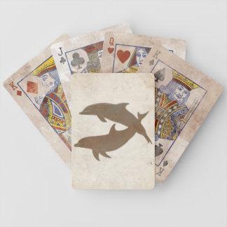 Rustic Dolphins Beach Wedding Bicycle Card Decks