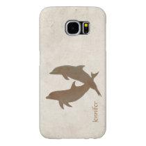 Rustic Dolphins Beach Wedding Samsung Galaxy S6 Case