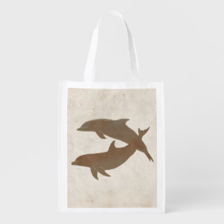 Rustic Dolphins Beach Wedding Market Totes