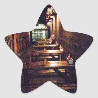 Rustic Door and Table - Portland, OR Star Sticker