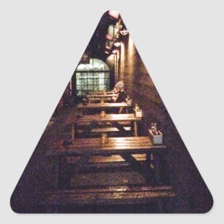Rustic Door and Table - Portland, OR Triangle Sticker