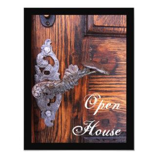 Rustic Door Open House Invitation