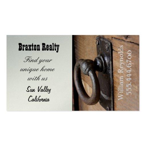 Rustic Doorknob Custom Business Card Template