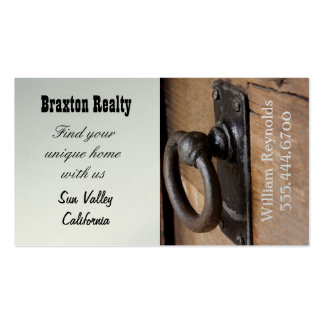 Rustic Doorknob Real Estate Business Double-Sided Standard Business Cards (Pack Of 100)