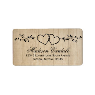 Rustic Wedding Shipping, Address, & Return Address Labels | Zazzle