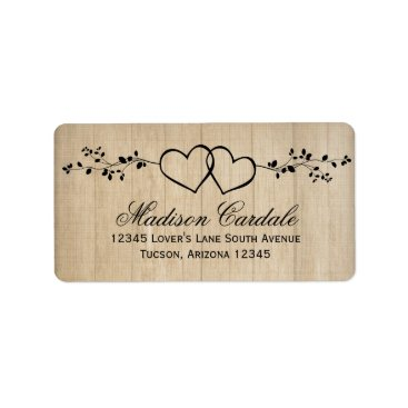 RusticCountryWedding Rustic Double Hearts Wedding Address Labels