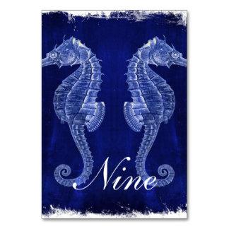rustic drift wood vintage blue seahorse wedding card
