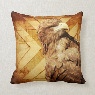 Rustic Eagle Throw Pillow