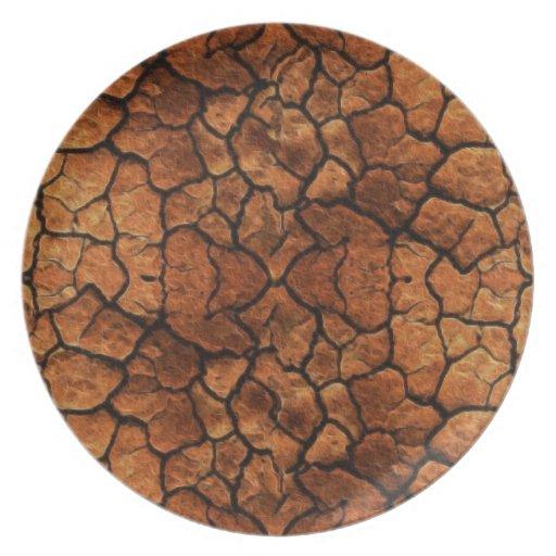 Rustic Earth II Organic Textures Designer Plate